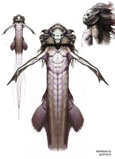Merman (Harry Potter and the Goblet of Fire) concept art by Adam Brockbank