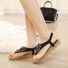 2016-New-Summer-Bohemia-Flowers-women-flat-sandals-Ladies-Summer-Bohemia-Beach-Flip-Flops-Shoes-Casual.jpg (800×800)