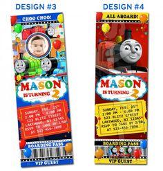 Thomas the train and friends birthday ticket invitations printable F