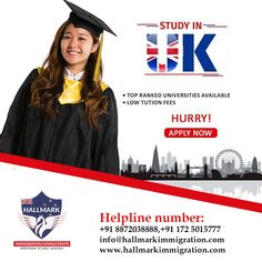 Apply for UK Study Visa with Hallmark Immigration Consultants and get the student loan facilities with us...  #Hallmark #hallmarkimmigration #immigrationconsultants #UK #unitedkingdom #studyinuk #ukvisa #studyvisa #studyinuk #studentvisa #educationvisa #visa #immigration #onlinebooking #onlineservices #studyabroad #hurryup #applynow #loanfacilities Uk Visa, Student Loans, Chandigarh, Study Abroad, How To Apply, Social Media, Facebook, Education, Social Networks