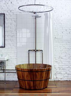 Как оформить ванную: оригинальные интерьеры image via @AD Russia #bathroom #interiordesign #rustic #charming #home #interior