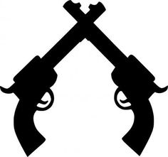 Crossed Pistolas Decal- Pistols Decal for any hard flat surface