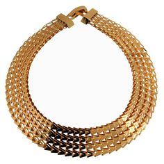 """Women's Choker Necklace - Gold (16"""")"""