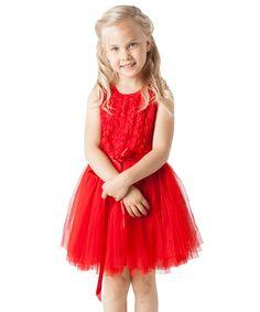 Look at this Designer Kidz Red Rosette Tutu Dress - Toddler & Girls on #zulily today!