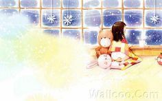 Kim Jong Bok Illustrations(Vol.03) - Cartoon Cute Fairy Girl  - Art Illustration : A Warm Day in Winter 22