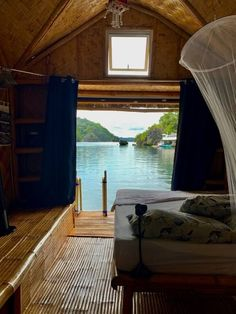 Paolyn Houseboats in Coron, Philippines. Bamboo suite bedroom Amazing Destinations, Holiday Destinations, Travel Destinations, Top Hotels, Hotels And Resorts, Global Holidays, Siargao Island, Water Villa, Dubai Hotel