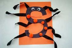 S is for Spider Halloween Paper Craft