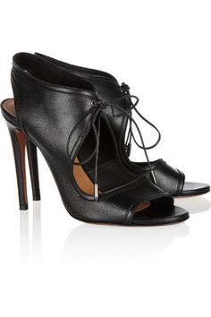Lace my #Louboutin! #Black #Sandals