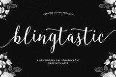 Blingtastic Script by Seniors on Creative Market