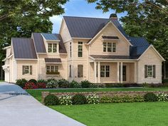 086H-0044: Luxury House Plan with Country Charm