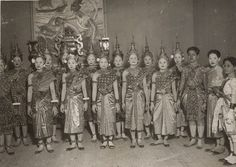 cambodian dancers in paris, c. 1930..all I can say is wow! This photo is pretty rare and amazing