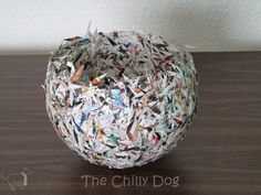 The Chilly Dog: Craft Challenge Tutorial: Paper Bowl Paper Mache Bowls, Paper Bowls, Recycled Paper Crafts, Paper Mache Crafts, How To Make Paper, Crafts To Make, Diy Crafts, Diy For Teens, Crafts For Teens