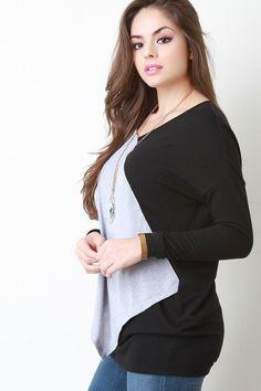 2b65e2c435738d Color Block Layered Long Sleeve Top