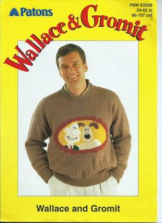 Wallace and Gromit Intarsia Knitting Pattern