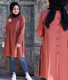 Modest Fashion Hijab, Muslim Fashion, Fashion Dresses, Iranian Women Fashion, Sleeves Designs For Dresses, Pakistani Dress Design, Mode Hijab, Islamic Clothing, Simple Dresses