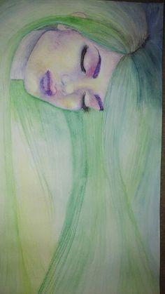 Jaded- watercolour pencils Watercolor Pencils, Watercolour, Disney Characters, Fictional Characters, Mixed Media, Aurora Sleeping Beauty, Drawings, Painting, Art