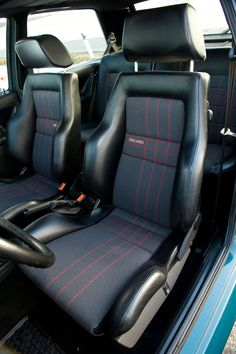 RECARO seats in MK2 Rallye Golf >> http://www.evo.co.uk/volkswagen/golf/14105/vw-golf-r-vs-golf-rallye