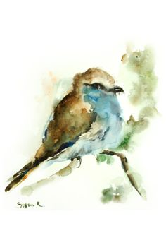 Hey, I found this really awesome Etsy listing at https://www.etsy.com/listing/191198815/bird-watercolor-painting-art-print-bird