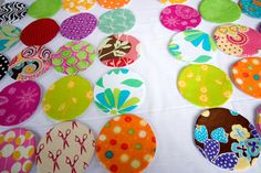 Dot Quilt/another tutorial on making circles using fusible