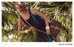 Arizona Muse for Louis Vuitton Saumur Collection