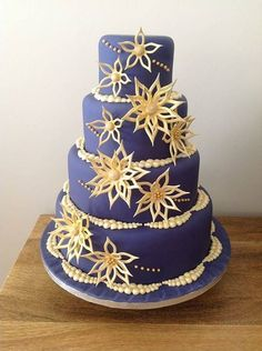 Check out this gorgeous collection of perfectly purple cakes, from lavender to grape to violet. They just might make you want to join Team Purple! Purple And Gold Wedding, Purple Wedding Cakes, Cool Wedding Cakes, Beautiful Wedding Cakes, Beautiful Cakes, Amazing Cakes, Floral Wedding, Fondant Cakes, Cupcake Cakes