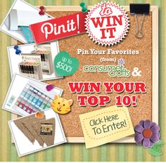 Pin It! to Win up to $500 in Free Craft Supplies from ConsumerCrafts.com