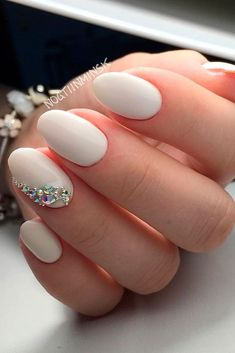 Exquisite Ideas of Wedding Nails for Elegant Brides ★ See more: http://glaminati.com/wedding-nails-ideas/ #WeddingNails