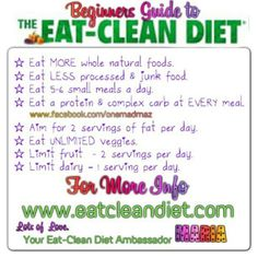Eat clean for beginners