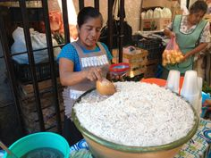 Tejate, Mercado de Villa de Etla. Oaxaca, México