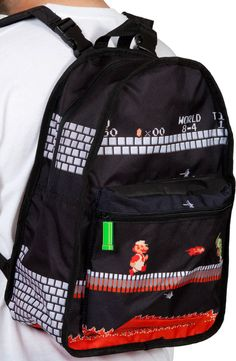 Nintendo Super Mario Reversible Backpack: World 1-1 and 8-4
