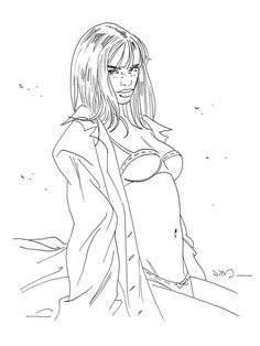 Jim (Terrasson, Thierry) - Original illustration - Marie - Een nacht in Rome