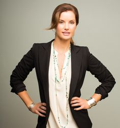 The Big Meeting: A cream top, black blazer and touch of turquoise will do the trick. #WomensFashion #Silpada
