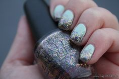 """essie """"Mint Candy Apple"""" + OPI """"Sparkle-icious"""" = ♥"""