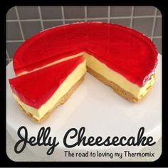 A massive hit! Great to bring along to BBQs or as a dessert when guests pop over for dinner. You can vary the falour of the jelly used for the topping. My other cheesecakes: Choc Honeycomb Cheesecake Choc Peppermint Cheesecake Cookies & Cream Cheesecake Thermomix Cheesecake, Jelly Cheesecake, Cookies And Cream Cheesecake, Peppermint Cheesecake, Cheesecake Toppings, Thermomix Desserts, Cheesecake Recipes, Cupcake Recipes, Dessert Recipes