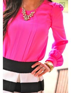 Love this top! Great color. Puff shoulder pushing it but subtle enough to work.
