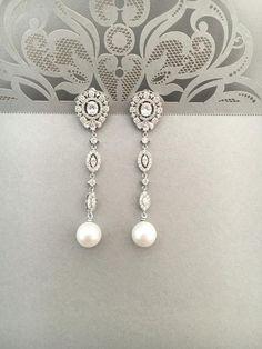 Delicate Vintage inspired Bridal Earrings