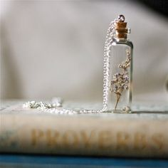 floral bottle necklace