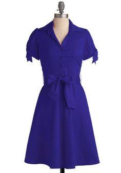 Cobalt of Inspiration Dress, love the color