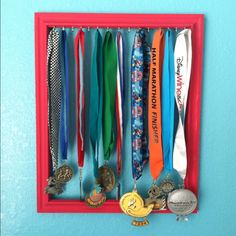 She's been racking up the medals! I need something cute for her to display them on :-)