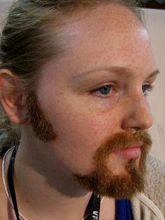 fake apply How hair to facial