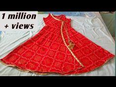 Girls Frock Design, Long Dress Design, Girls Dresses Sewing, Dresses Kids Girl, Baby Dresses, Sleeves Designs For Dresses, Dress Neck Designs, Kurti Designs Party Wear, Kurta Designs