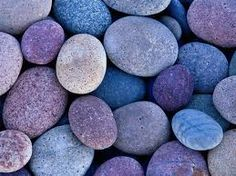 Perfect skipping stones. Nature's perfect combination of blue and purple.