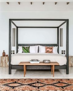 Wishlist: A four poster bed. A room should never allow the eye to settle in one place. It should smile at you and create fantasy home decor decoration salon decoration interieur maison Bedroom Sitting Room, Comfy Bedroom, Bedroom Retreat, Bedroom Decor, Bedroom Ideas, Trendy Home Decor, Master Bedroom Design, Pierre Jeanneret, Beautiful Bedrooms
