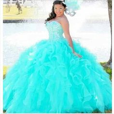 ==> [Free Shipping] Buy Best Sweetheart 16 Princess Quinceanera Dresses 2017 Corset Ball Gowns with Beaded Bodice Turquoise Long trajes de quinceaneras 2017 Online with LOWEST Price   32650532384