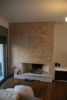 τεχνοτροπία σε τζάκι Decor, Fireplace, Home, Artwall
