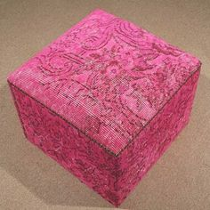 Pink Ottoman Pouf #handmade #pink #pouf #ottoman #seat #vintage #homedecor #homedesign #carpet #color #rug #kilim #istanbul #kelim #interior #design #designer #boho #home #travel #traveller #vintage #turkey #gift #decoration #art #blogger #fashion #fashionblogger #sale #blackfriday http://ift.tt/1MRcYIp by altuntaskilim