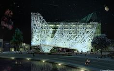 Milan Expo 2015: Nemesi & Partners Reveal Smog-Eating Pavilion for Italy,North Facade. Image © Nemesi & Partners