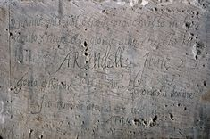 Graffiti in the Beauchamp Tower, the Tower of London. Written by Phillip Howard, Earl of Arundel, 1587