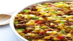 This easy cheesy breakfast casserole is overflowing with sausage, eggs and hash browns. And it can be easily made the night before and baked the next day for breakfast. Use 8 eggs instead of always. Breakfast Dishes, Breakfast Time, Breakfast Casserole, Breakfast Recipes, Breakfast Ideas, Sausage Breakfast, Breakfast Plate, Second Breakfast, Free Breakfast