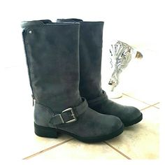 NWOB Just Fab Moto Boots! Selling a Brand new pair of Justfab Moto Boots. These boots are stylish,comfortable and great to wear with just about anything from jeans to leggings to shorts and dresses! These are brand new and 7.5 in size! Shoes Combat & Moto Boots